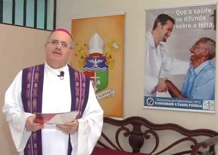 Pronunciamento de Dom Odelir José Magri, Bispo de Sobral, Ceará, lançando a Campanha da Fraternidade do ano de 2012 (Foto: Reprodução)