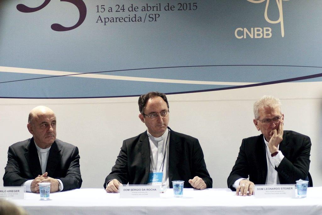 Presidência apresentou notas oficiais da CNBB na entrevista coletiva após a posse (Foto: Arquivo/CNBB)
