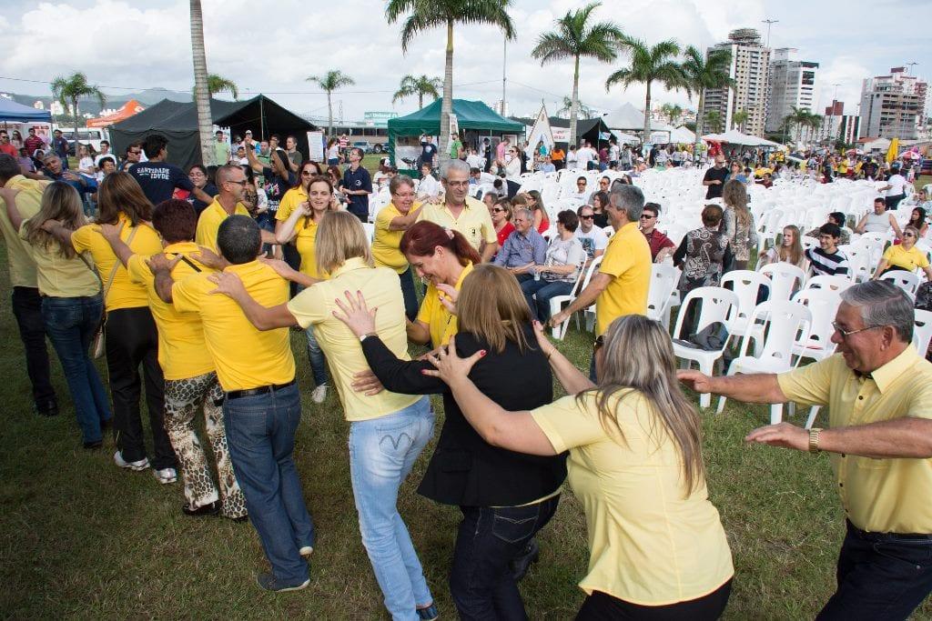 Familiares tiveram tarde de de lazer (Foto: Everton Marcelino/Arquidiocese de Florianópolis)