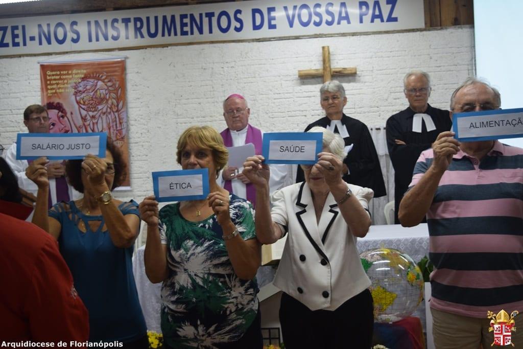 Campanha da Fraternidade pede justiça social ao lado do acesso ao saneamento básico (Foto: Assessoria de Imprensa da Arquidiocese de Florianópolis)