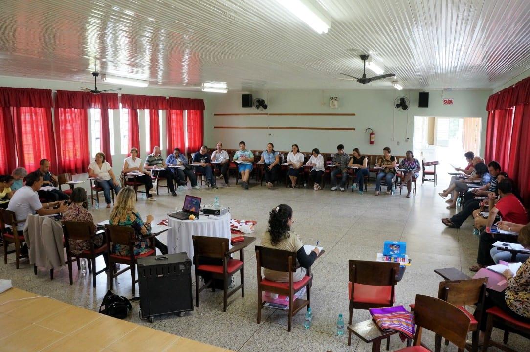 De oito dioceses, 38 participantes estão capacitados a iniciar práticas restaurativas em Santa Catarina, em escolas, presídios e outros ambientes. (Marcelo Luiz Zapelini/Agência Sul 4)