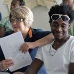 A brasileira Rosani Franzon e o haitiano Riche Fils superaram o preconceito para viverem o romance que resultou em casamento, em Nova Erechim (Foto: Marcelo Luiz Zapelini/Agência Sul 4)
