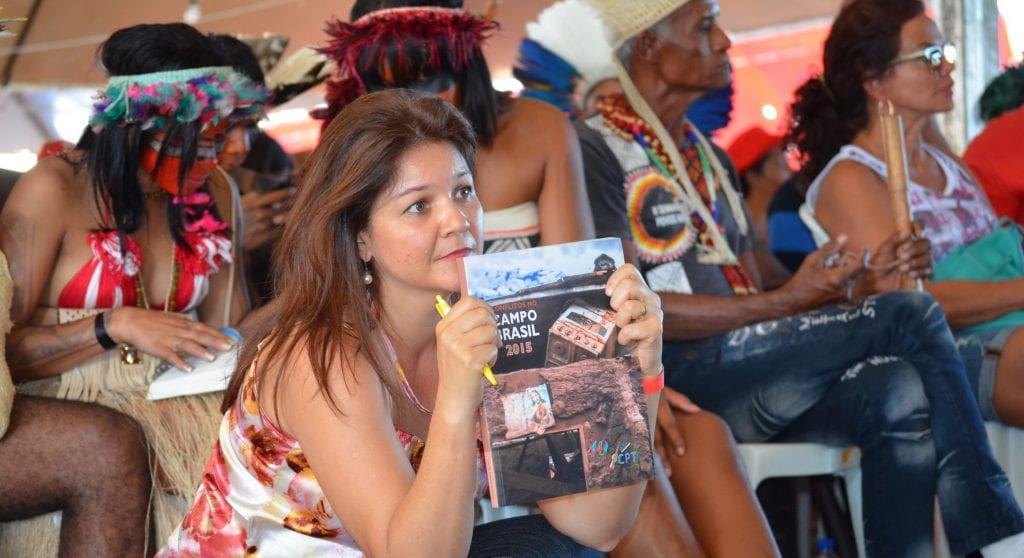 CPT lançou documento no Acampamento Nacional pela Democracia, no DF (Jaime C. Patias/POM)