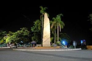 Monumento ao lado da Basílica de Aparecida homenageia a V Conferência Geral do Episcopado Latino-americano e do Caribe, realizada no Santuário, em 2007. (Marcelo Luiz Zapelini/Agência Sul 4)