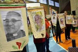 Entre os mártires lembrados, dom Oscar Homero, assassinado em 1980, por milícia de direita em El Salvador. CEBs mantém presente a memória de pessoas que deram a vida pela justiça social. (Marcelo Luiz Zapelini/Agência Sul 4)