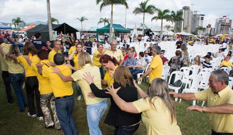 Como em edições anteriores, evento promove integração entre as famílias. (Foto: Arquidiocese de Florianópolis)