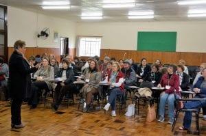 Quarenta agentes das 10 dioceses de Santa Catarina participaram de curso da Pastoral da Saúde em Lages, 03 e 04 de maio. (Marcelo Luiz Zapelini/Agência Sul 4))