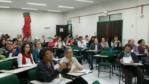 Os 54 delegados do PR e SC e RS que foram à Criciúma, no campus da Unesc, decidiram articular cooperação regional do Fórum Mudanças Climáticas e Justiça Social. (Marcelo Luiz Zapelini/Agência Sul 4)