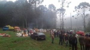 Cerca de 200 famílias chegaram por volta de 2h20 da manhã na Reserva Nacional de Chapecó. (Sandra Mara Mohr/Desacato.info)