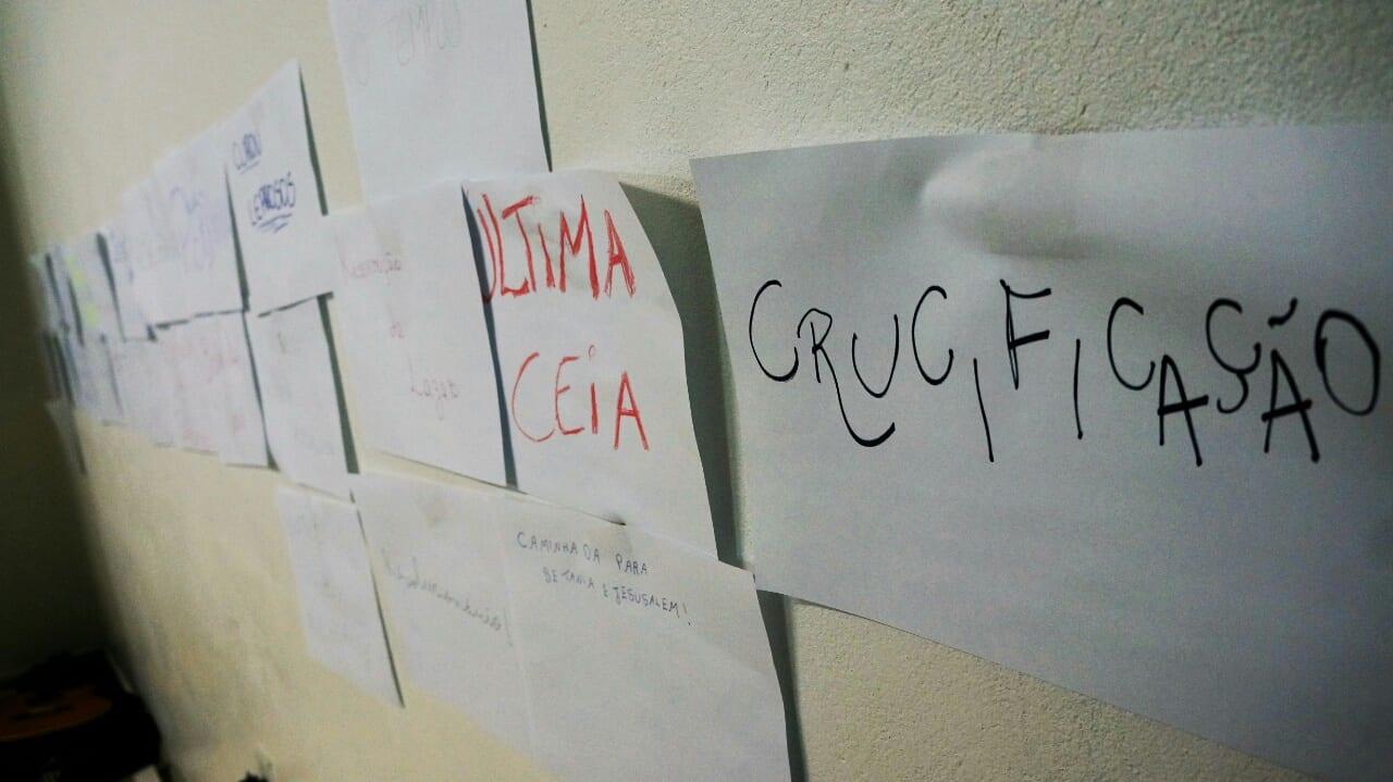 Na escola de lideranças para jovens da PJ, jovens recordam os momentos da vida de Cristo. (Marcelo Luiz Zapelini/Agência Sul 4)